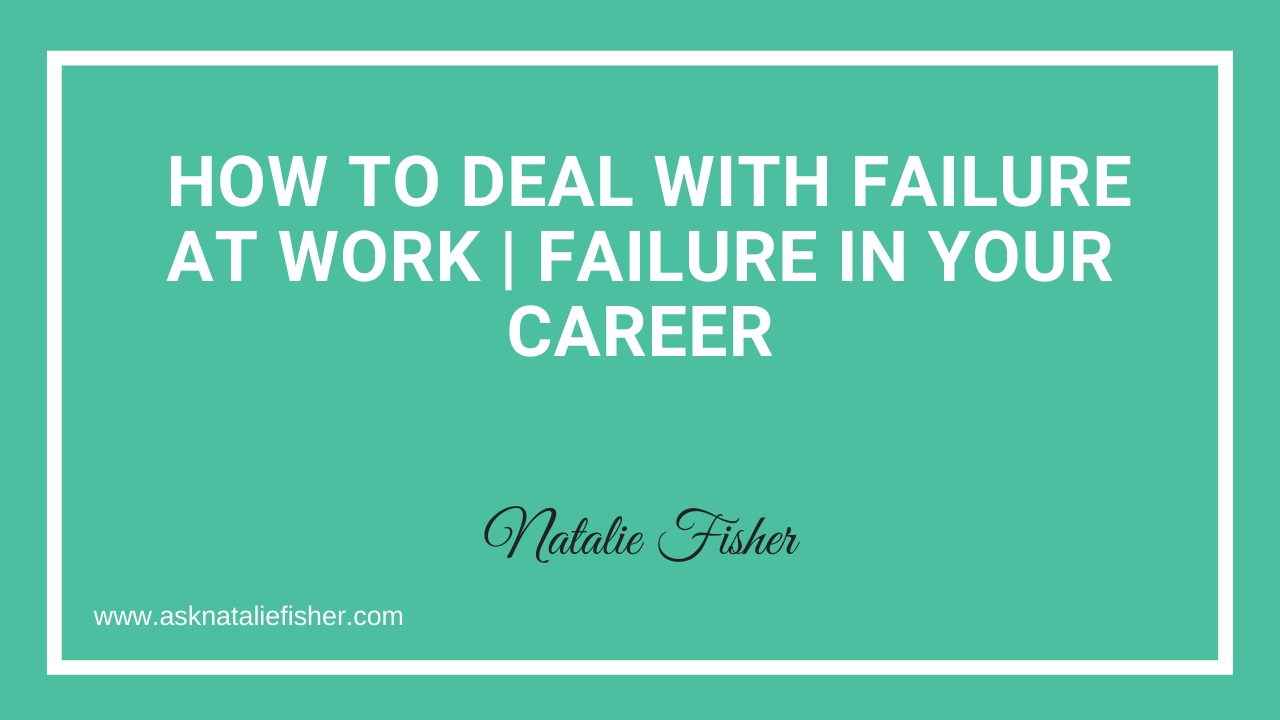 How To Deal With FAILURE At Work | Failure In Your Career