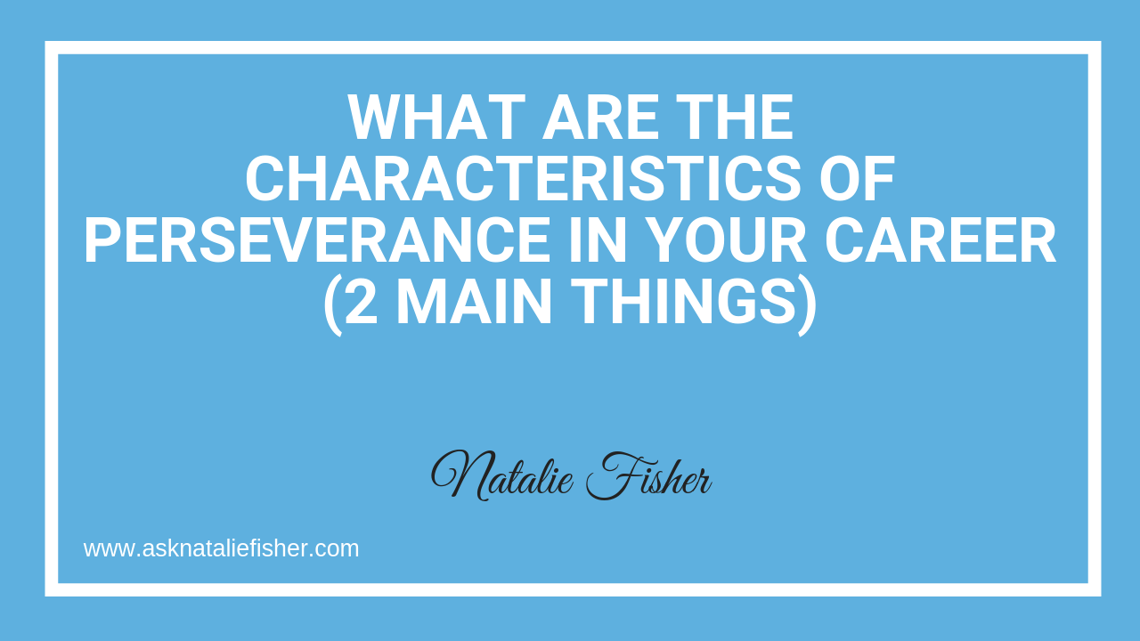 What Are The Characteristics of Perseverance In Your Career (2 Main Things)