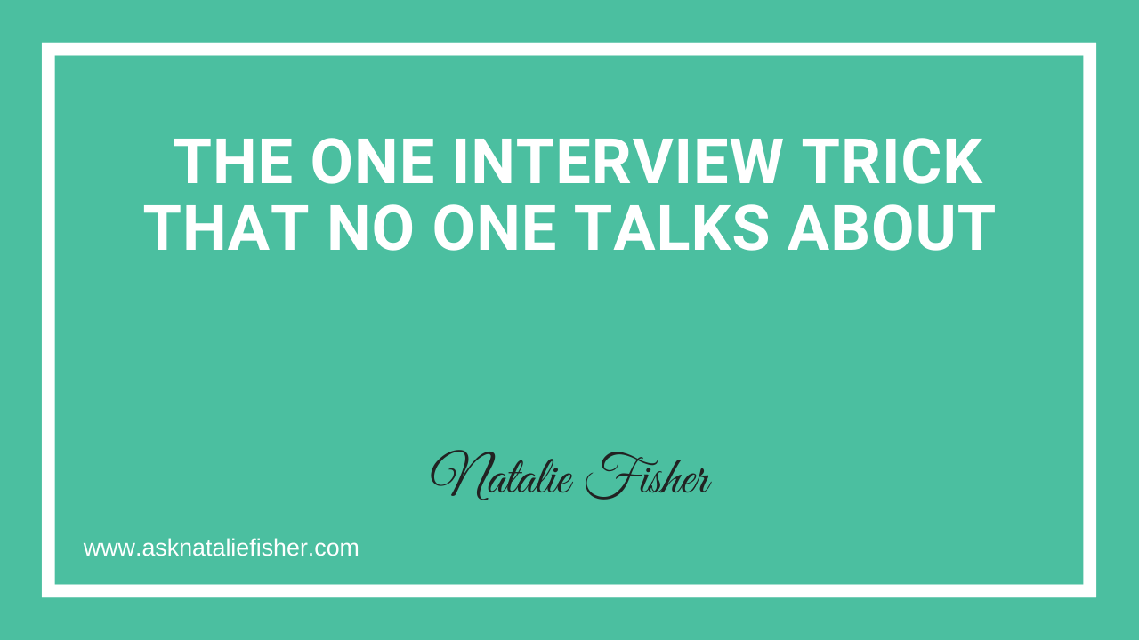 The One Interview Trick That NO ONE Talks About
